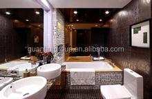 Decoração do banheiro de vidro contador top para venda