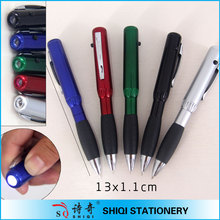 fashion stationery colorful led torch light pen