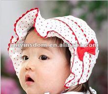 2012 fashion lovely falbala lace bow children hats