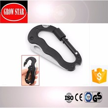 5 in 1 Multi Carabiner With Screwdriver, Bottle Opener and Knife