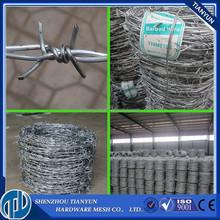 Venta al por mayor alibaba alambre de púas barato precio por rollo, alambre de púas de peso por metro venta
