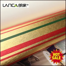 Lanca buy famous gold red line building material wallpaper for interior