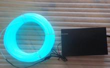 1.4mm/100m aqua/transparent blue and green color/Tron Color EL Wire