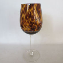 Amber Wine Glass With Clear Stem Kitchinware Glassware