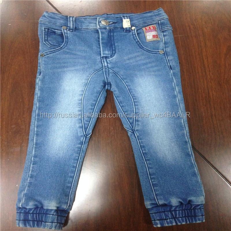 Дети вязание джинсовые брюки / дети джинсовые бегуном джинсы / малыша стиральная джинсовые бег брюки