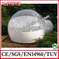 China supplier Shelly ^_^ inflatable bubble tent,inflatable clear dome tent with room