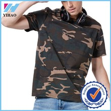Yihao 2015 new arrival men sport wear men youth camouflage solide t-shirt soft summer shirt leisure sport tops cool