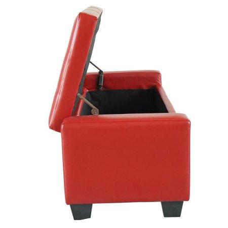 Salon meubles faux en cuir pliant pouf de rangement - Meuble a chaussure rouge ...