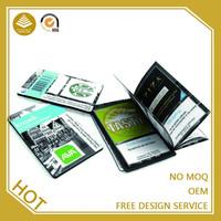 Credit card size 10 sheet folding pocket handmade address book phone book