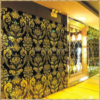For Interior Decoration With Ccc/ce/iso Certification Nature Decoration Laminated Dry Grasses /plant Wired Glass