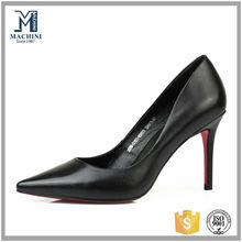 2015 heel shoes latest genuine leather fashion high heel shoes /woman pumps red sole