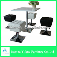 square high glossy bar table