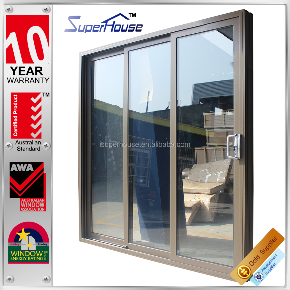 Australia as2047 standard commercial system double glass for Sliding door manufacturers