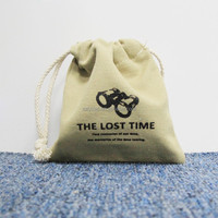 custom imprint small canvas cotton gift bag