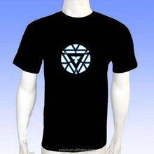 New Iron man design music el sound active led t-shirt with high quality