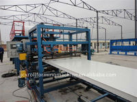 available After-sales Service Provided and New Condition eps sandwich panel production machine