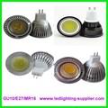 Cob gu10 3 w / 5 w / 7 w LED spot lâmpada iluminação 85 - 265 V de alumínio + plástico COB LED spot lâmpadas
