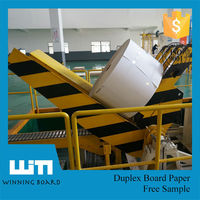 Roll Packing Recycled Paper Clay Coated Grey Back Cardboard Duplex Board Paper