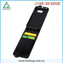 الهاتف الخليوي الحالات تصل إلى أسفل الوجه ليشمل سامسونج الجلود والجلود s6 s6 حافة مع two فتحة بطاقة