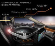 humanized design car air purifier ionizer with hepa filter, releasing active oxygen negative ions