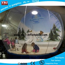 New popular inflatable snow globe for kids, giant inflatable snow globe with beautiful photo insert