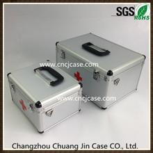 Silver diamond pattern aluminum medical box