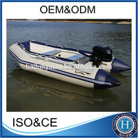 3.6M Aluminum fishing row boat and fishing boat china with different colors pvc material