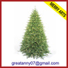 Jinhua Yiwu manufacturing wholesale 7ft slim green artificial pvc christmas trees made in china