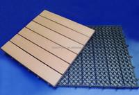 Easy to install WPC DIY decking 300*300*22mm prefab decks plastic decking