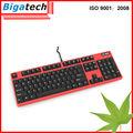 mejor mecánica con conexión de cable del teclado de computadora teclado ergonómico