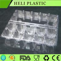 12pcs egg disposable PVC/PET palstic clear plastic egg tray/carton