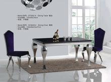 la fábrica de foshan precio modernos muebles de comedor habitación marbel de mesa de comedor mesa con base de acero inoxidable