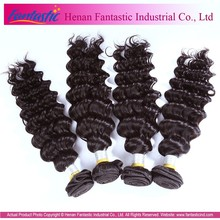 Best Quality all length nice looking Natural Black cheap virgin brazilian deep wave hair