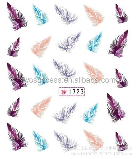 new feather nail sticker (2)