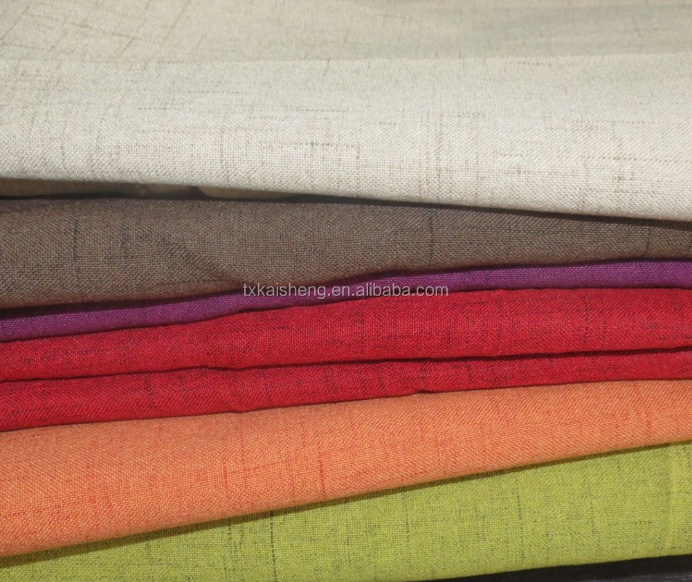 2015 Polyester Curtain Fabric Linen Upholstery Sofa Fabric