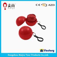 Maiyu waterproof eco friendly cheap pe emergency disposable ball rainwear rain poncho