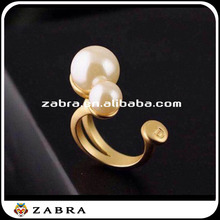 2015 18k gold plating jewelr DO bubbles pearl split ring the gold-plated copper plating platinum The Arab gold jewelry for women