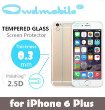Best quality for 2.5d full size screen protector super hardness 9H for iphone6+
