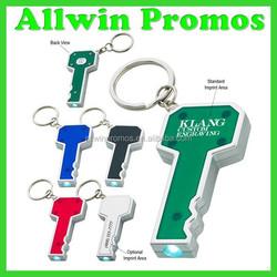 Key Shape LED Ring Light with Key Chain