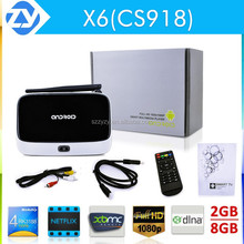 Newest Smart CS918 android tv box smart media player full hd with chipset RK3188 quad core