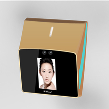 outdoor face recognition access control system gold color face authentication device