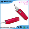 protable metral Lipstick power bank 2600mah for Iphone 6