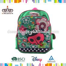 De moda bolso de escuela/bolsa de la escuela de la mariquita/los niños mochilas escolares de las niñas