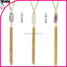 Europe and the United States the new tassel natural stone crystal necklace