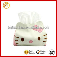 Hello Kitty PU leather fabric tissue box cover pattern