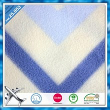 Over 20 years exprience flame retardant material disposable airline blanket fashion polar fleece airline blanket