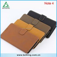 Retro style vintage leather case for Samsung Galaxy Note 4