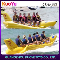 commercial inflatable boat for ocean/lake, cheap fly fish inflatable ,fishing infltable banana boat for adult
