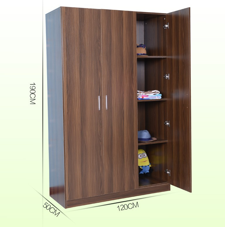 Assemble plastic portable wardrobe closet wooden
