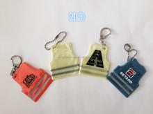 promotion fashionable design soft pvc reflective keychain keyring